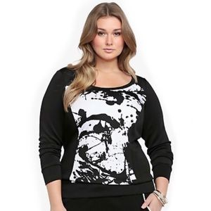 NWT Torrid Printed Scuba Sweatshirt